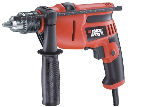 Black & Decker KR554RE 550-Watt 13mm Variable Speed Reversible Hammer Drill Machine (Without Kit)