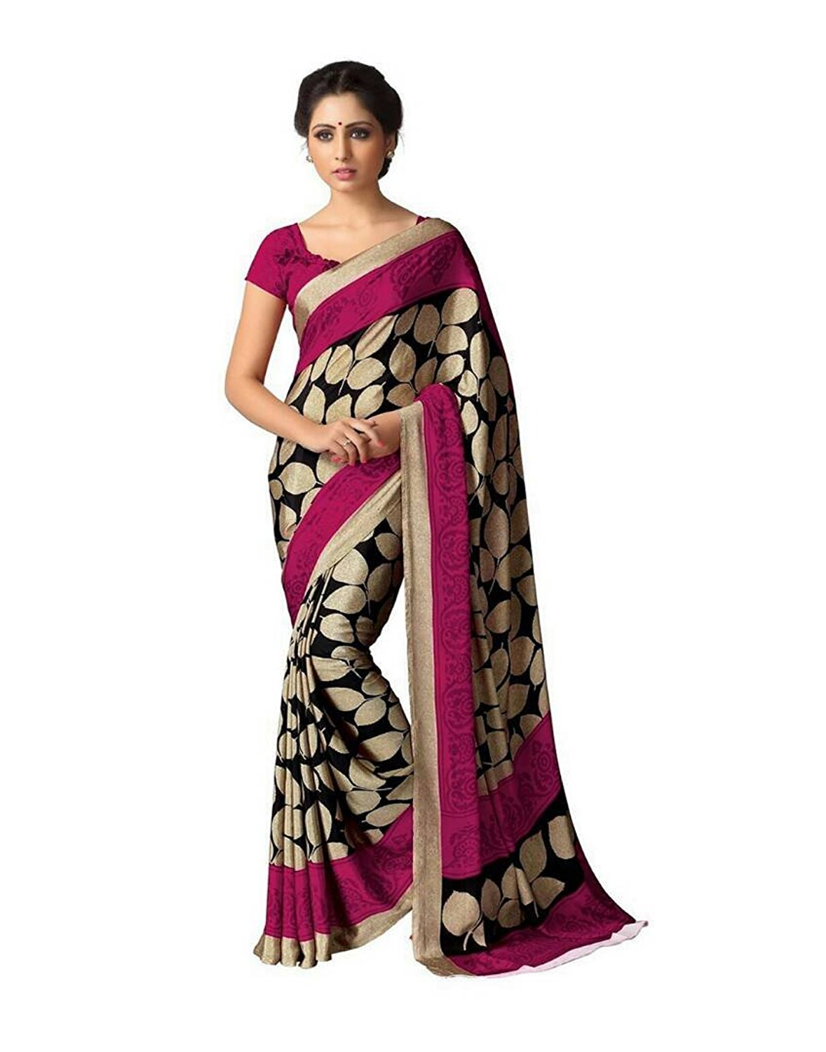 Womens Renial Multi Color Saree with Blouse piece