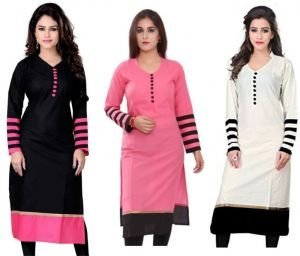 Cotton Fabric Free Size Printed Ladies Kurti